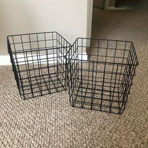 NEW. Room Essentials. Wire Basket Storage.